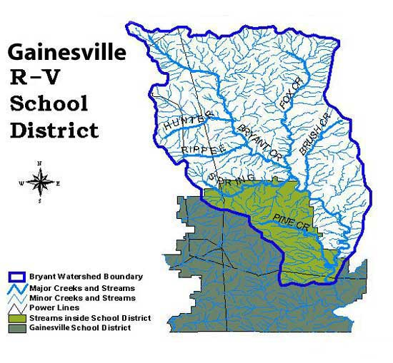 Gainesville R-V School District Map