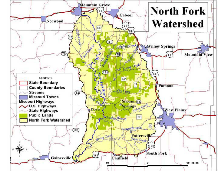 North Fork Watershed Map